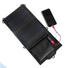 8W 5.5V Outdoor folding Solar Panel USB Output Portable Foldable portable Power Bank waterproof travel Solar Charger for phone