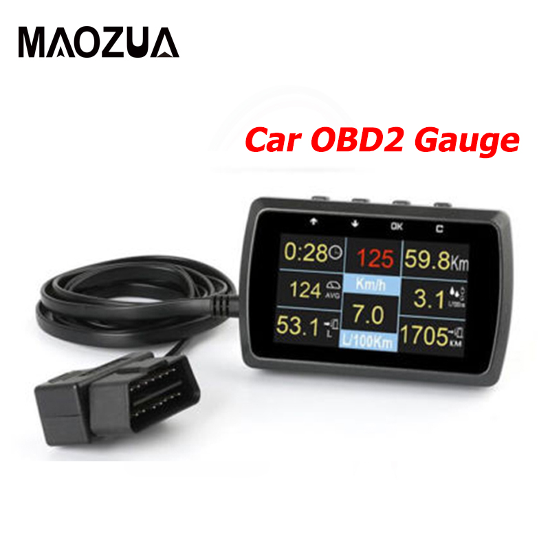 Auto Trip Computer Scan Tool  Car OBD OBD2 OBDII Digital Speed Meter Fuel Consumption Water Temperature Gauge Vehicle Computer