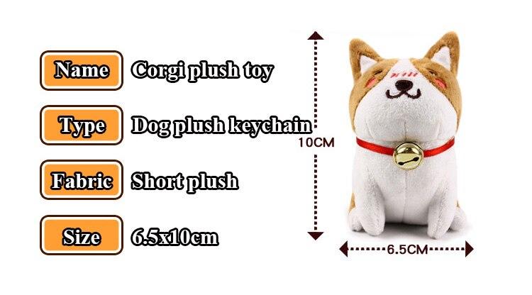 1pcs 1020cm Cute Corgi Dog Plush Toy Stuffed Dolls Lovely Soft Animal Cartoon Dog Plush Keychain for Baby Kids Christmas Gift (4)