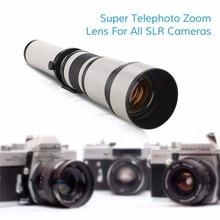 цена на Lightdow 650-1300mm F8.0-F16 Super Telephoto Manual Zoom Lens+T2-AI for Nikon D3100 D3200 D5000 D5100 D5200 D7100 DSLR Camera