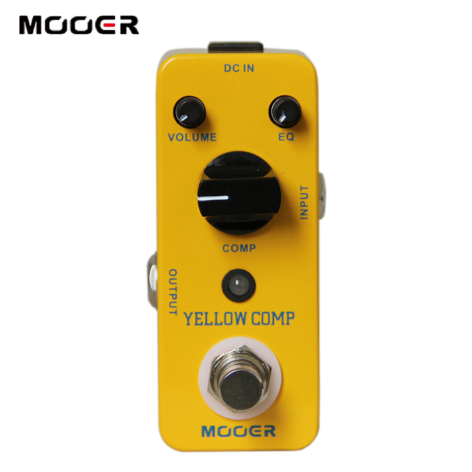 MOOER YELLOW COMP/Classic optical compressing sound with smooth attack and decay,further more mooer mini classic optical electric compressor effect pedal yellow comp true bypass with smooth attack and decay sound
