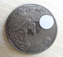 20 pcs/lot Palau mythical creatures wolf coin imitation antique coin, art rounds 2 oz moon wolf replica coins
