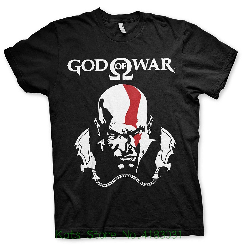 God Of War Officially Licensed Merchandise Kratos T-shirt ( Black ) Short Sleeve Cheap Sale Cotton T Shirt