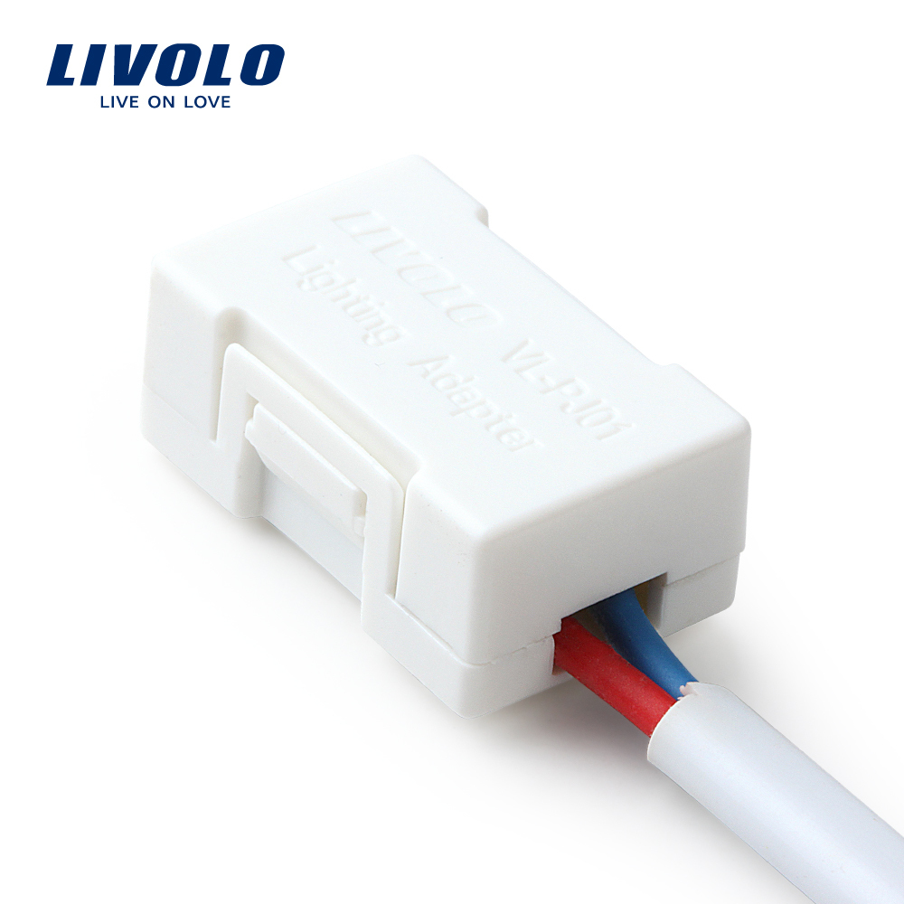 Free shipping livolo lighting adapter the saviour of the low wattage led lamp white plastic materials