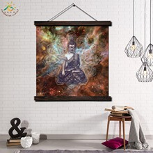 Buddha Image Single Modern Wall Art Print Pop Picture And Poster Framed Hanging Scroll Canvas Painting Home Decor Starlight