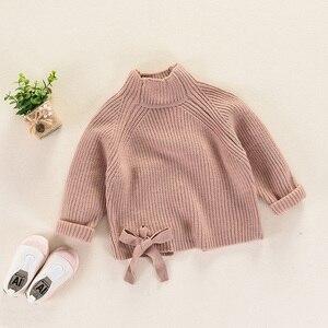Image 2 - 秋冬子供のセーター厚手のニットプルオーバー上着タートルネック子供の女の子 RT130