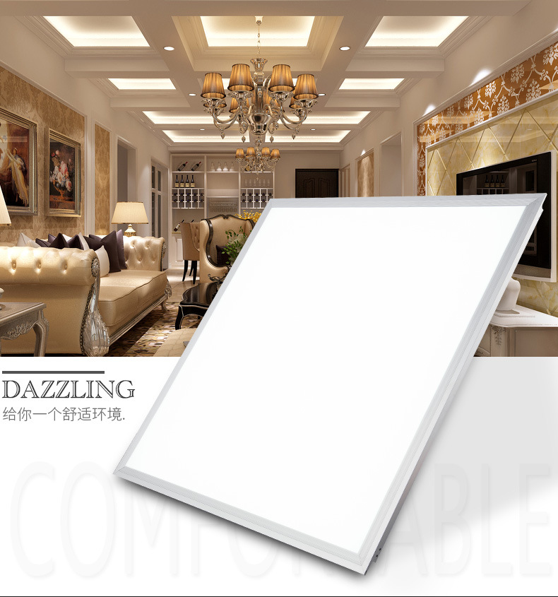 36W 40W 72W Flat Square LED Panel Light 600x600 2x2 FT High Bright Ceiling Panel For Indoor Office Shop Drop Ceiling
