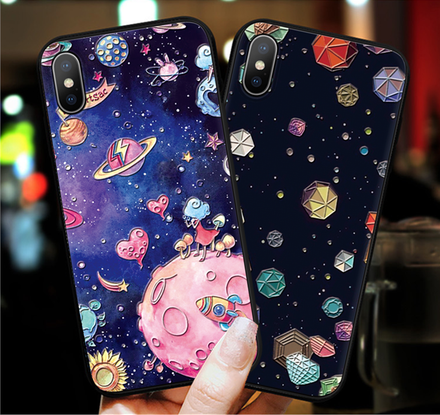 3D Relief Space <font><b>Case</b></font> For <font><b>Huawei</b></font> P30 P8 P9 P10 P20 Mate 20 Lite Y6 <font><b>Y7</b></font> Pro P Smart <font><b>2019</b></font> TPU <font><b>Cat</b></font> Cover For Honor 8X 10 7A 9 Lite image