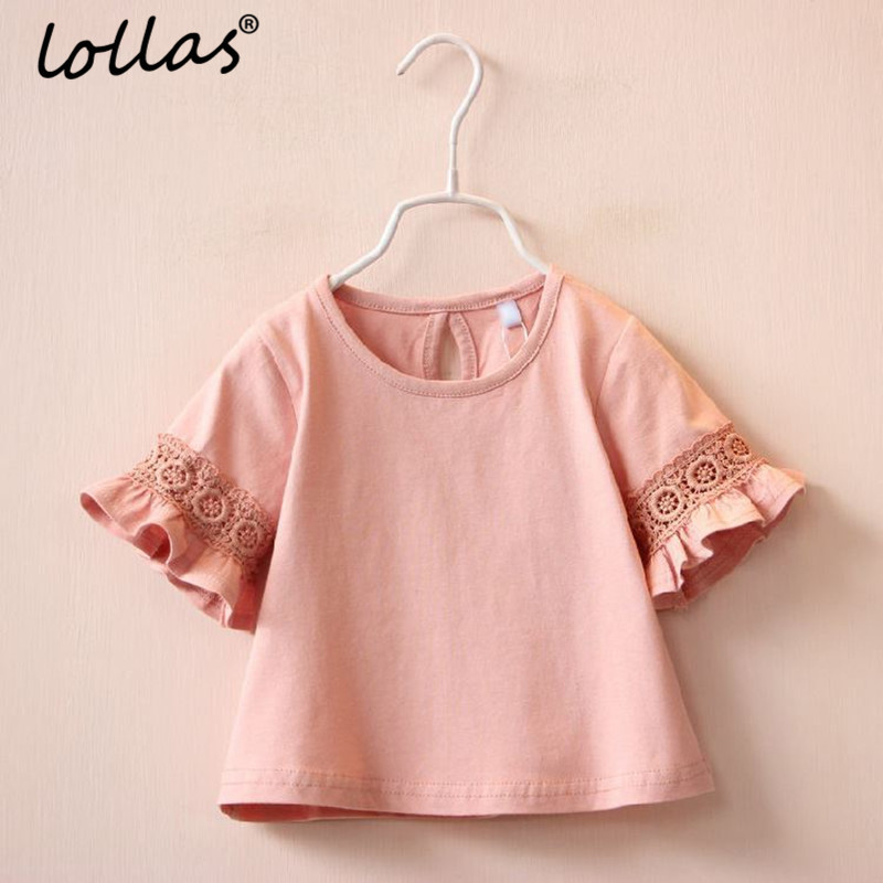 Lollas New Summer Spring Princess Lace Kids Girls T shirt Half sleeve Children T- Shirts For Girl Top Clothes Clothing ...