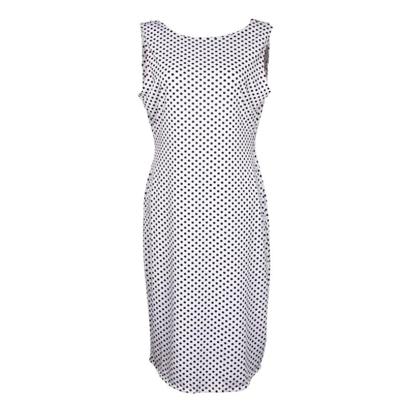 2017 Summer New Fashion Sexy Women Polka Dot Dress Sleeveless Halter Pencil  Dress robe femme sex slim club dresses-in Dresses from Women s Clothing on  ... 9e9ea29ad