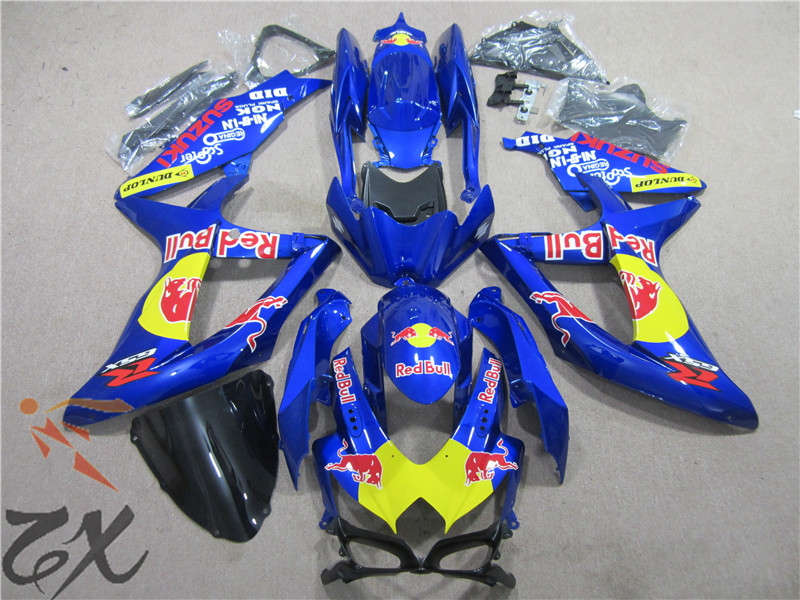 UV painted free shipping For GSXR600 08 09 10 GSXR750 06-07 GSXR600 <font><b>K8</b></font> R750 <font><b>GSXR</b></font> <font><b>600</b></font> 750 <font><b>2008</b></font> 2009 2010 Fairing injetion image
