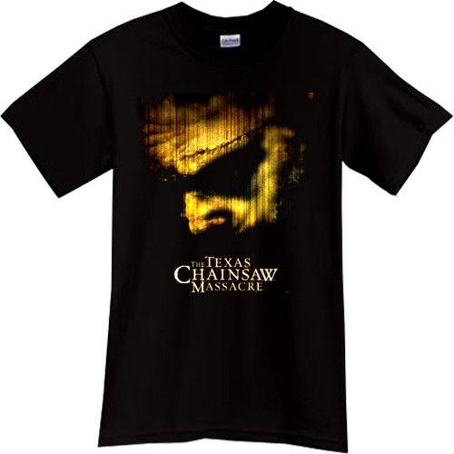 Camiseta negra de la película del Thriller del Horror de la masacre de la motosierra de Texas
