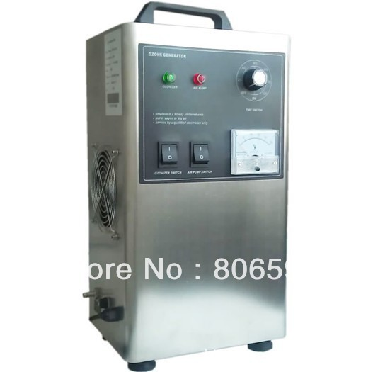 Free Shipping 3000mg Portable Ozone Generator for Water Treatment