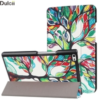 Phone Cases For Lenovo Tab4 8 Shell Tri Fold Stand Flip Patterned PU Leather Cover For