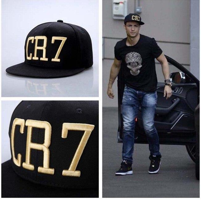 Prix pour 2016 os Cristiano Ronaldo CR7 Noir Bleu Parent enfants Baseball casquettes hip hop Sport Snapback Football chapeau chapeu de sol butin