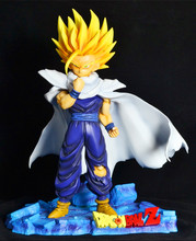 Free Shipping EMS Anime Dragon Ball Z Super Saiyan Cloak Sun Gohan Super Big PVC Action Figure Collection Model Toy 29cm