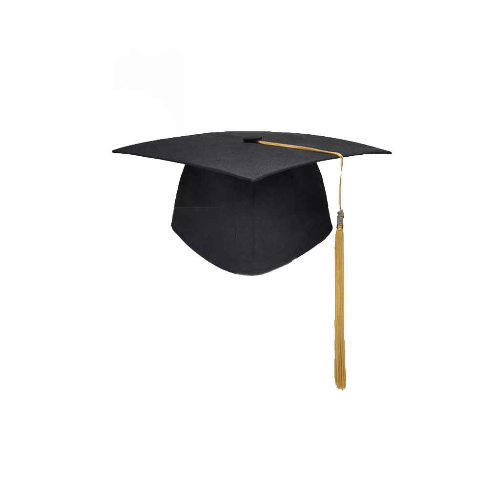 School Graduation Party Tassels Cap Mortarboard University Bachelors Master Doctor Academic Hat NEW Black Mortar Board