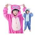 cute kids one-piece pajamas lovely cartoon stitch style sleepwear for 3-10yrs chilren boys girls onesie pajamas night clothes