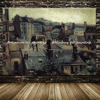 Крыши в Париже Винсента Ван Гога Картины Ручной работы высокое качество воспроизведение известный Картина маслом на холсте стены книги по