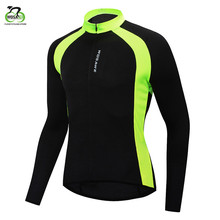 цены WOSAWE Outdoor Sports Cycling Jersey Summer Autumn Bike Clothing Bicycle Long Sleeves MTB Shirts Cycling Wear Quick Dry Jersey