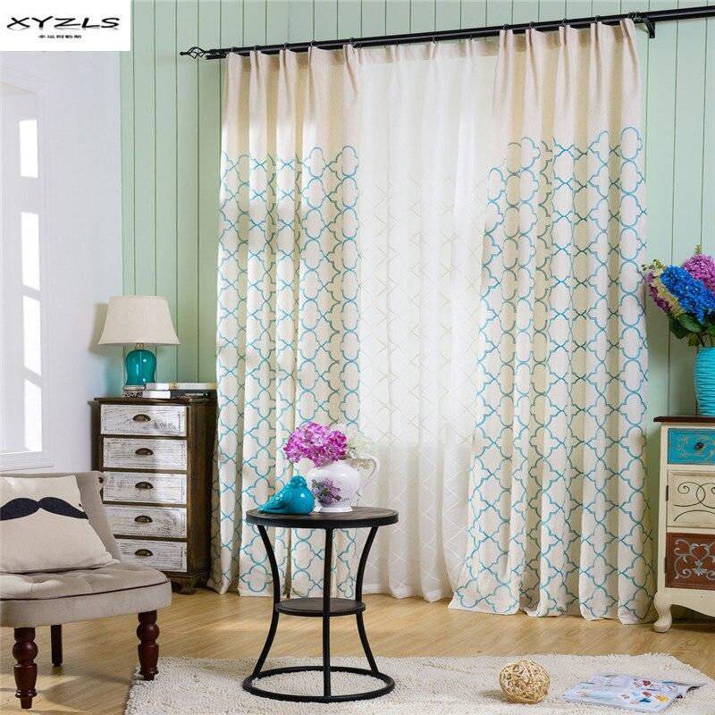 lino tende ricamate-acquista a poco prezzo lino tende ricamate ... - Tende Per Salotto Numbers