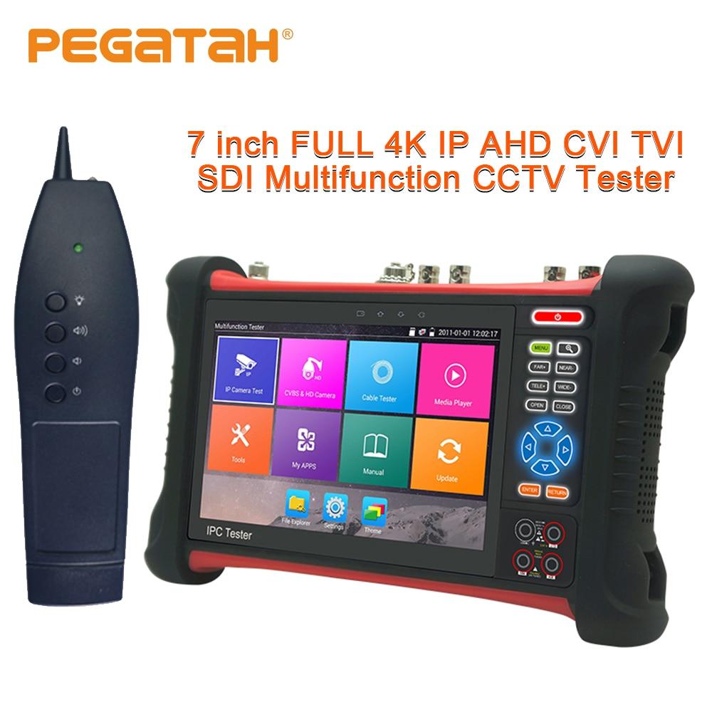 7 pouces IP testeur de caméra 8MP CVI TVI AHD SDI CVBS IP 6 dans 1 CCTV Testeur moniteur de vidéosurveillance caméra de sécurité testeur HDMI TDR OPM Traceur