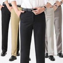 b615697562c Pantalones largos pantalones de hombre de algodón de la ropa de trabajo  pantalón negro de los