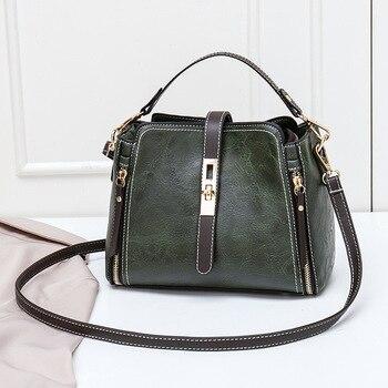 7f9636162 De las mujeres, bolsa de aceite cera de las mujeres bolsos de cuero grande  Tote marcas famosas de alta capacidad de mujer, bolso de hombro, Crossbody,  ...