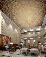3d壁紙カスタム3d天井壁紙壁画ヨーロッパタイプ復元古代の方法は、パターンの民俗フレスコ画壁の装