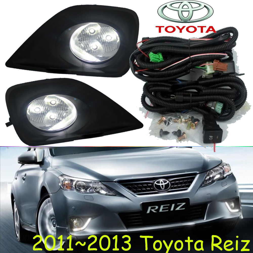 Reiz fog light ,2011~2013 year;Free ship! Reiz daytime light,2ps/set+wire ON/OFF;LED,Reiz wheel hub bqlzr dc12 24v black push button switch with connector wire s ot on off fog led light for toyota old style