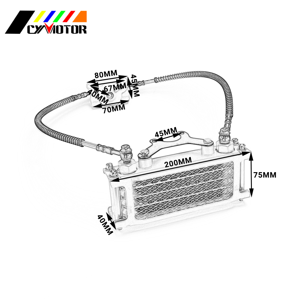 Aluminum Oil Cooling Cooler Radiator Set For Loncin