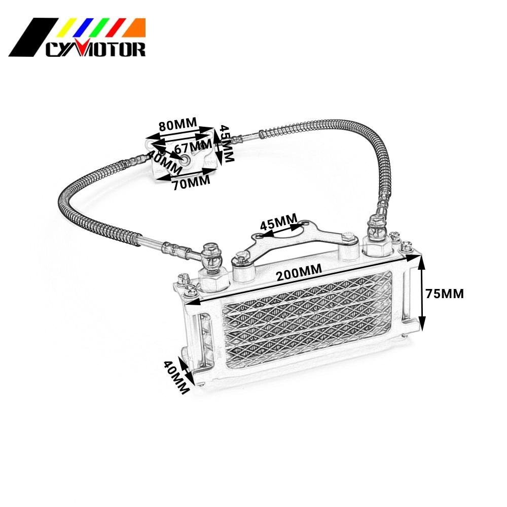 Aluminum Oil Cooling Cooler Radiator Set For Loncin Zongshen Lifan Shineray Yinxiang 125 140CC Horizontal Engines поршень loncin gn300