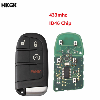4 ボタンスマートリモートキー 433 Mhz の Id 46/PCF7953 チップクライスラーダッジチャージャー旅チャレンジャーデュランゴ 300 キー