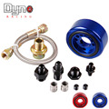 DYNO VTEC OIL SUPPLY ADAPTER ALUMINUM CONVERSION KIT /Oil Filter  Sandwich Plate Cooler Adapter Kit feed Line