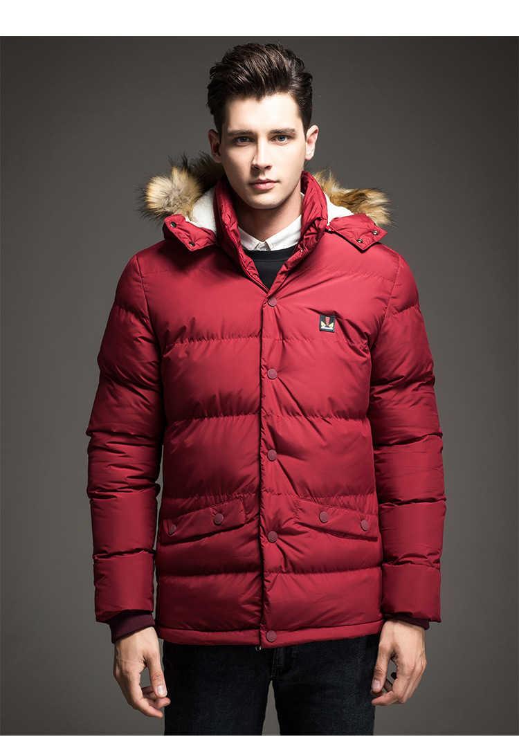 2018 冬プラス厚い暖かい長綿のジャケットコート男性パーカー爆撃機アビエイターフード付き生き抜く防風男性の新しいホット