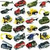 Zabawka odlewany Metal zabawkowy Model ze stopu metalowy samochód pojazd wojskowy Wheel-Car Police ciągnik koparka prezent zabawki dla chłopców dzieci zabawki