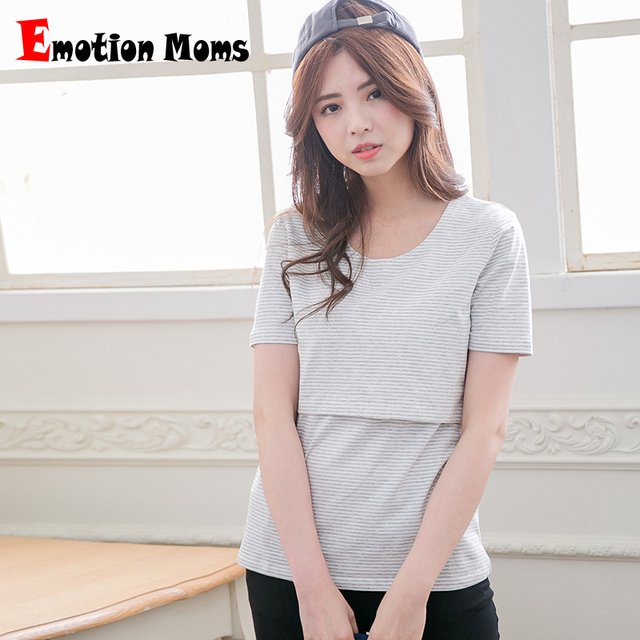 3da60493748 Emotion Moms Short Sleeve Maternity clothes maternity tops nursing clothing  nursing top breastfeeding clothes for pregnant Women