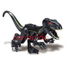 Jurassic World 2 Big Dinosaur Building Blocks Black Tyrannical Dragon Xun Assembling Children Toys