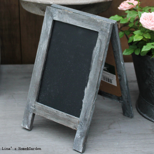 Portable Vintage Retro Stained Tabletop Standing Double Sides A Framed Wood Chalkboard  Sign