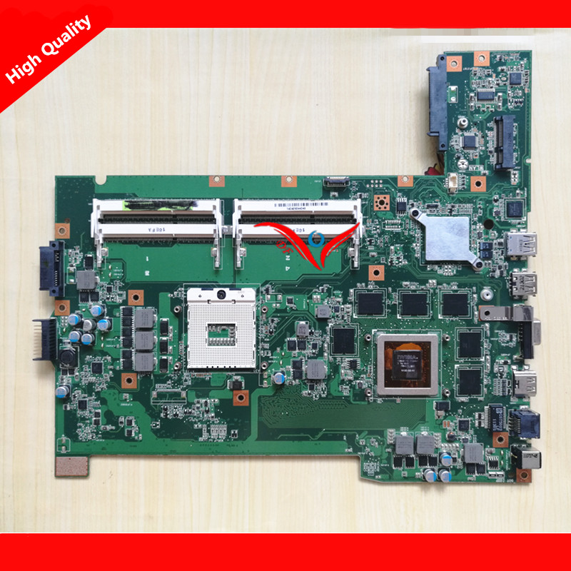 4 RAM Slots G74SX Main Board Rev 2.0  Fit For ASUS G74SX Notebook PC 3D display laptop motherboard, 100% working  original notebook motherboard x54c k54c for asus rev 2 1 system pc mainboard with ram on board