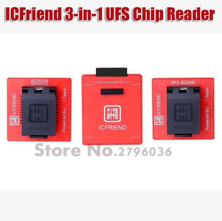 2019 Notizie ICFriend ICs-UFS 3IN1 Supporto UFS BGA-254 BGA-153 BGA-95 con Facile Jtag Più Box