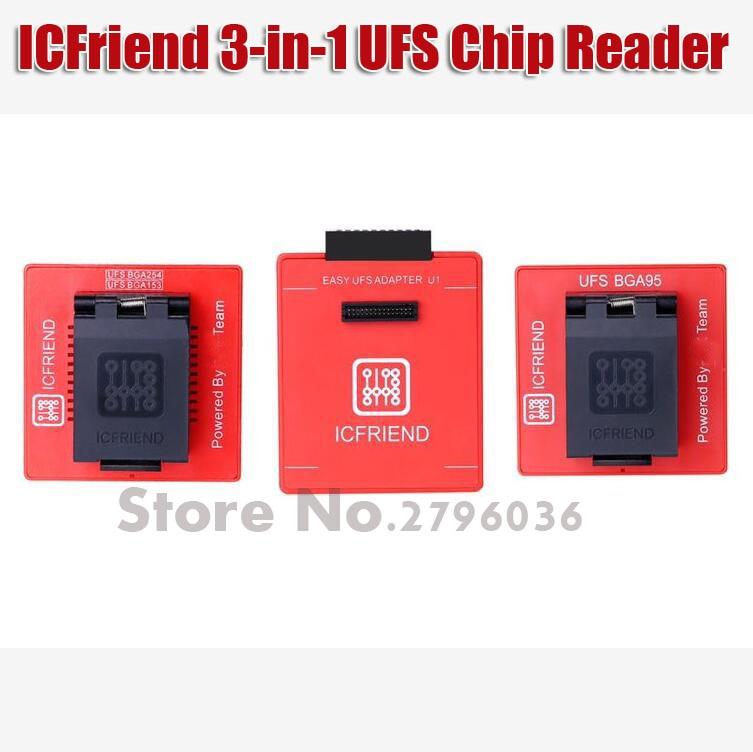 2019 Nouvelles ICFriend Ci-UFS 3IN1 Soutien UFS BGA-254 BGA-153 BGA-95 avec Facile Jtag Et Boîte