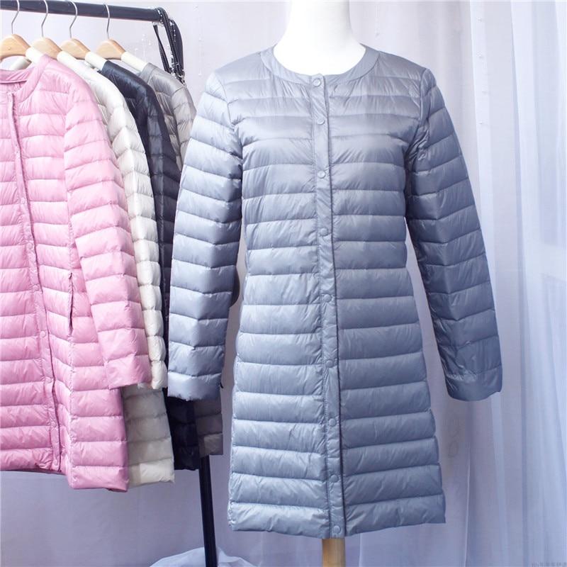 Sanishroly Women Ultra Light   Down     Coat   Autumn Winter Parka Female White Duck   Down   Jacket Long   Coat   Outerwear Plus Size4XL SE367