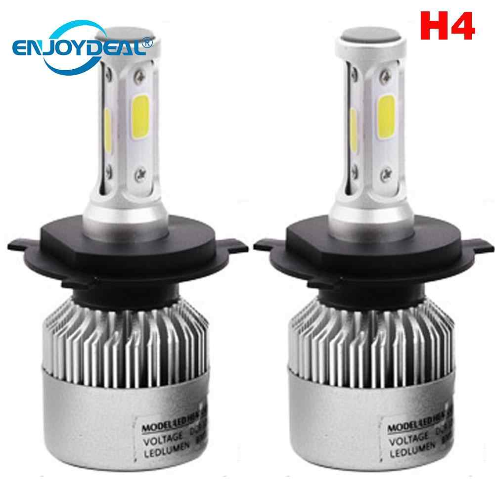 COB LED Headlight Bulbs 2pcs COB H1 H3 H4 H7 H8 H11 9005 9006 LED Car Headlight Fog Light Lamp Bulb 6500K 72W 8000LM F5