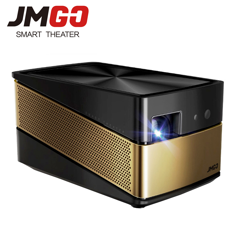 JMGO V8 Full HD <font><b>Projector</b></font>, 1100 ANSI Lumens, 1920x 1080 Resolution. Built-in Android 5.0, WIFI, Bluetooth. 4K Video <font><b>Projector</b></font>