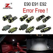 9 pz Led Interni Kit + Anteriore sugli luci della cupola della lampada + Posteriore + specchio cosmetico lampadina per BMW 3 serie E90 E91 E92 (2006-2011)