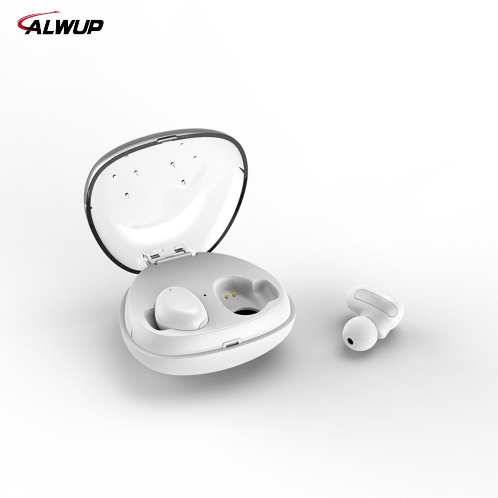 ALWUP UPI8S Bluetooth fone de ouvido 3D estéreo fones de ouvido fone de ouvido Sem Fio com banco de potência para Xiaomi iPhone 6 7 android samsung