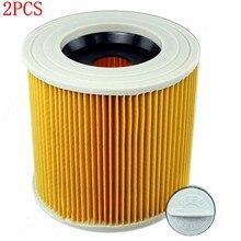 2 шт., сменные воздушные фильтры для пылесосов karcher WD2.250 WD3.200 MV2 MV3 WD3 karcher