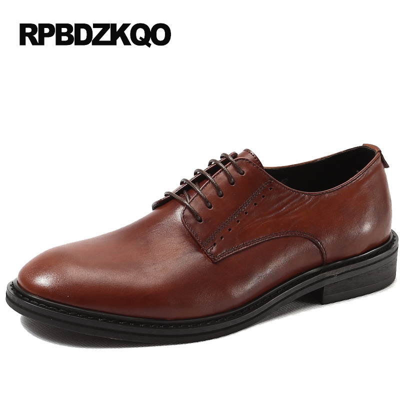 Spring Genuine Leather Men Shoes Italian Flats Business Wedding Brown Formal Popular European Dress Party Hot Sale Spring hot sale italian style men s flats shoes luxury brand business dress crocodile embossed genuine leather wedding oxford shoes