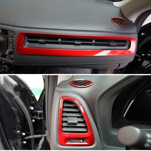Image 5 - ABS Chrome Interior Trim fit สำหรับ HR V Vezel Car Center คอนโซลภายใน Trim ชุดพลาสติก Moldings อุปกรณ์จัดแต่งทรงผม